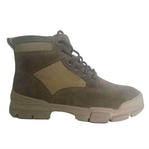 Suede Leather +Nylon Upper Rubber and Plastic Outsole For Casual Shoes