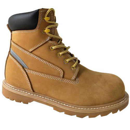 Nubuck Leather +Reflective Goodyear Welt  Basic 6 Inches Safety Work Boots