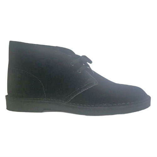 Black Suede Leather Upper Stitched-Down Basic 4 Inches Casual Boot
