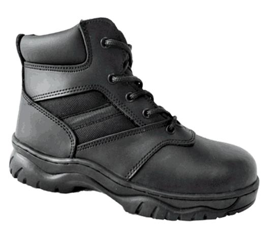 Black Action Leather+Cordura Upper Military Work Boots