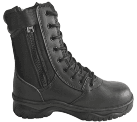 Action Leather+Nylon+Zipper Upper Military Work Boots