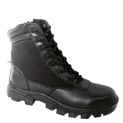 Split Action Leather+Nylon+Zipper Upper Military Work Boots