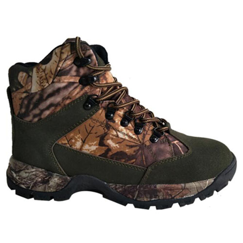 Suede +Camo Upper Cemented Basic 6 inches Hunting Boots