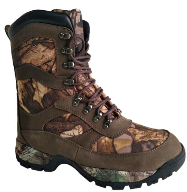 Nubuck Leather+Camo Leather Upper Cemented Basic 8 inches Hunting Boots