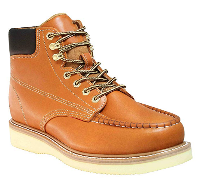 Genuine Leather Hand-made Moc Toe Wedge Outsole Industrial Safety Safety Work Boot